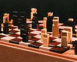 This is a site dedicated to fine woodwork, furniture, and  cabinet making. Here you will find over 80 images detailing my work spanning over a decade of devotion to my craft. This is an image of a detail of a chess set I made in 1992, I called it,